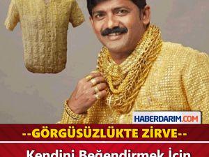 Kendini Beğendirmek İçin Altın Gömlek Giyiyor