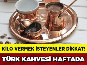 TÜRK KAHVESİYLE HAFTADA 10 KİLO VERİN!