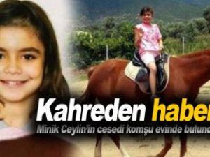 Son dakika: Kaçırılan 10 yaşındaki Ceylin komşunun evinde ölü bulundu