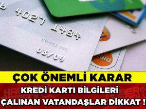 Yargıtay'dan kredi kartı bilgileri çalınan vatandaşla ilgili emsal