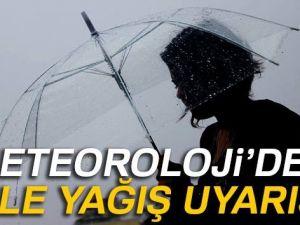 Meteoroloji'den 3 ile yağış uyarısı!