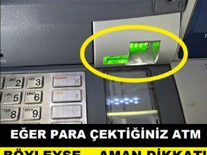 PARA ÇEKTİĞİNİZ ATM BÖYLEYSE... AMAN DİKKAT!