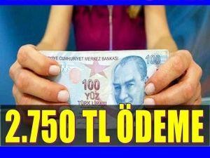 Emekliye Müjde: 2750 TL Ödeme Yapılacak;