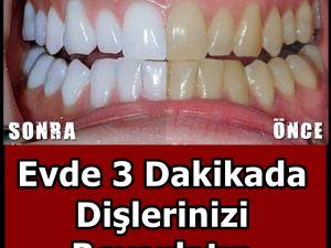 Evde 3 Dakikada Dişlerinizi Beyazlatın