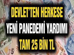 Devletten Pandemi Yardımı! Herkese 25 Bin lira Destek