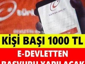 Bakan Açıkladı Kişi Başı 1000 Lira