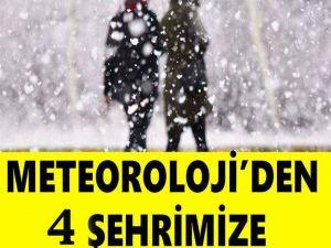 Bugün hangi illerde kar yağacak? Meteoroloji'den 4 il için kar uyar