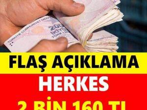 HERKES 2 BİN 162 TL ÖDEYECEK