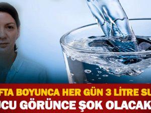 4 hafta boyunca her gün su içerseniz…
