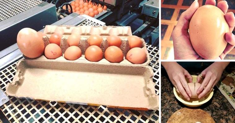 Böylesi ne görüldü ne duyuldu. Marketten aldığı devasa yumurtayı kırınca şok oldu.. İÇİNDEN BAKIN NE ÇIKTI?