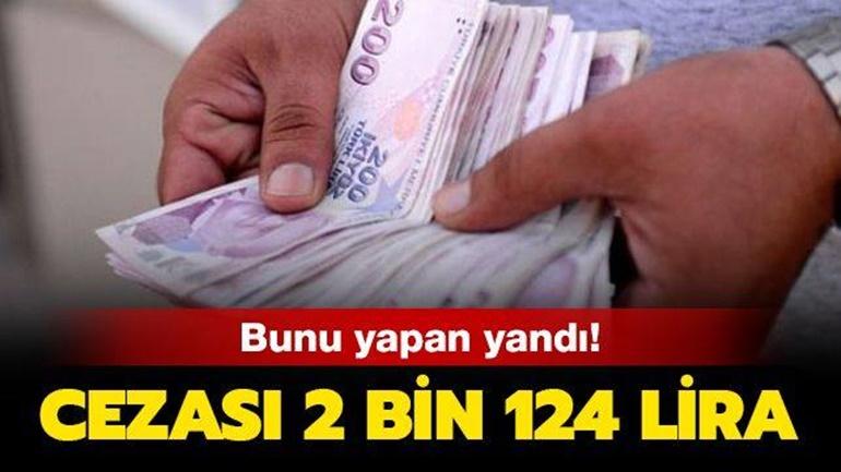 Bunu yapan yandı! Cezası 2 bin 124 lira