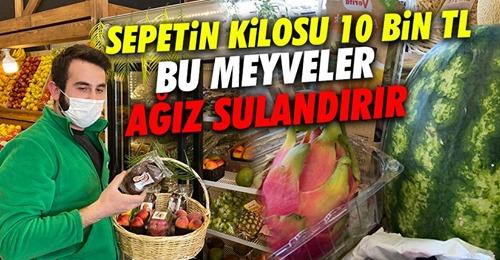 Egzotik meyvelerle dolu sepetin fiyatı dudak uçuklattı