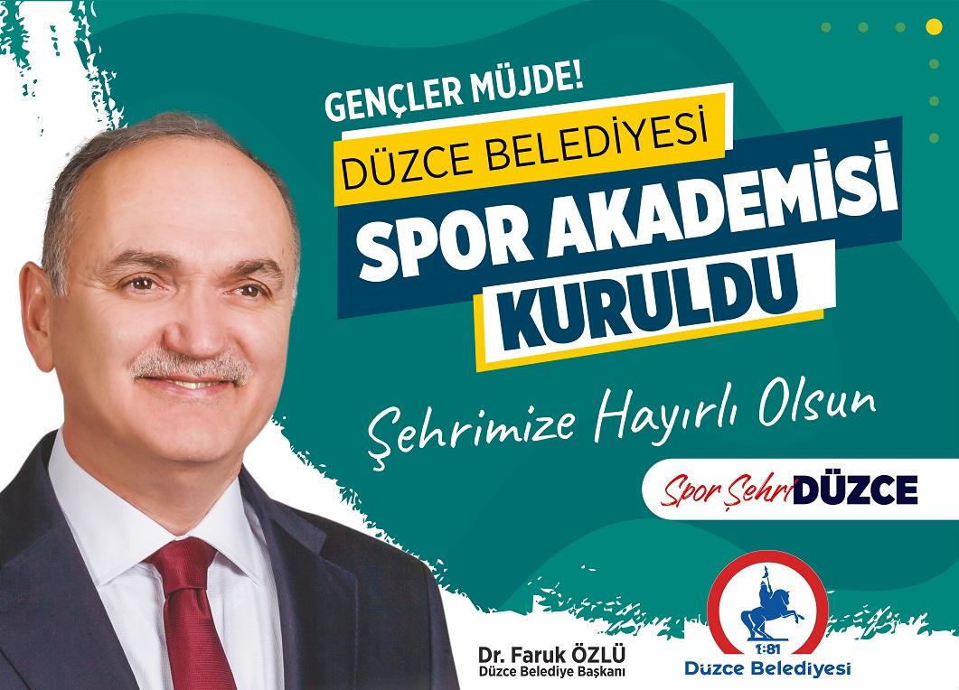 DÜZCE'DE ÇOCUKLAR SPOR YAPACAK