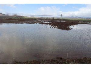 Taşan Dere Vatandaşı Mahsur Bıraktı, Ekili Alanlar Sular Altında Kaldı