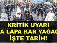 Tahminler Değişti! Kritik Uyarı Lapa lapa Yağacak Kar Altında Kalacağız!