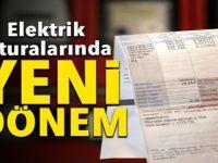 ELEKTRİ FATURALARINDA YENİ DÖNEM . . .