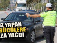 Hız yapan sürücülere ceza yağdı