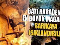 Batı Karadeniz'in En Büyük Mağarası Sarıkaya Işıklandırıldı