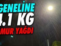 Düzce'ye gece 84.1 kilogram yağış düştü