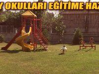 Köy okulları denetimden geçti